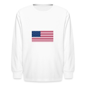 usa flag - Kids' Long Sleeve T-Shirt