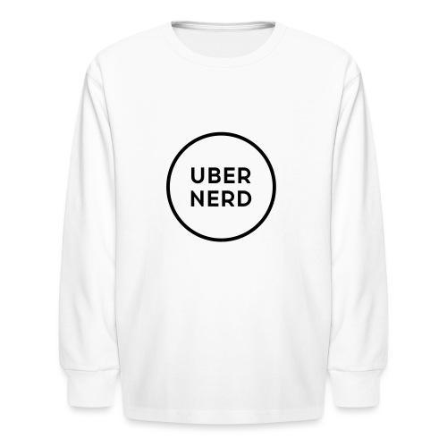 uber nerd logo - Kids' Long Sleeve T-Shirt