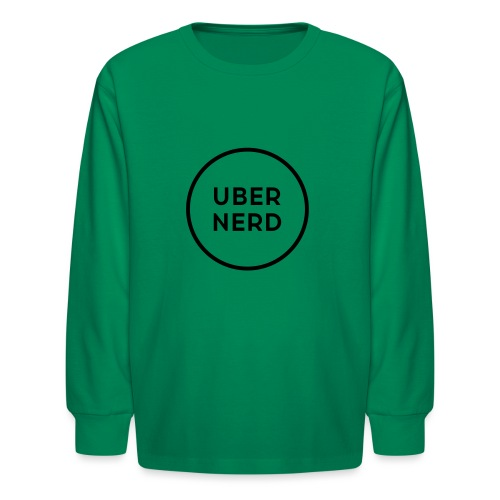 uber nerd logo - Kids' Long Sleeve T-Shirt