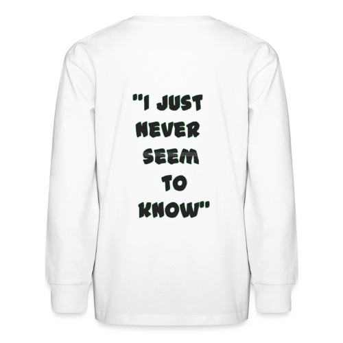 know png - Kids' Long Sleeve T-Shirt