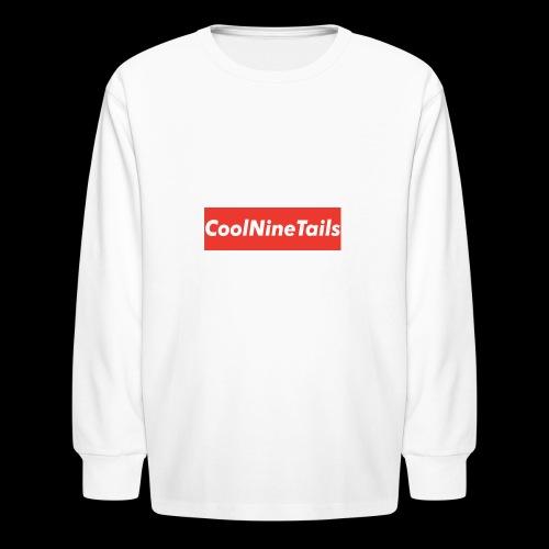 CoolNineTails supreme logo - Kids' Long Sleeve T-Shirt