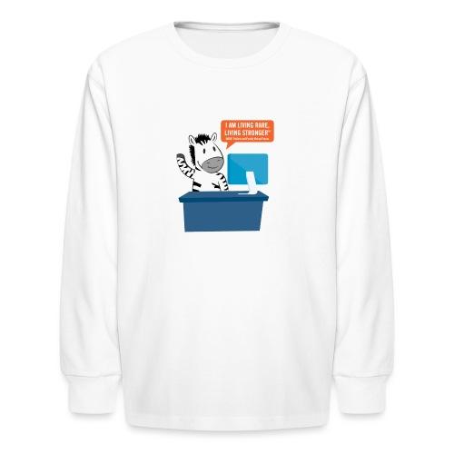Living Rare, Living Stronger 2020 Virtual Zebra - Kids' Long Sleeve T-Shirt