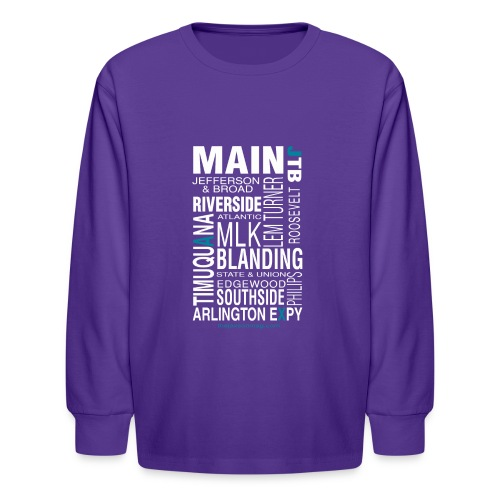 Jacksonville Streets - Kids' Long Sleeve T-Shirt