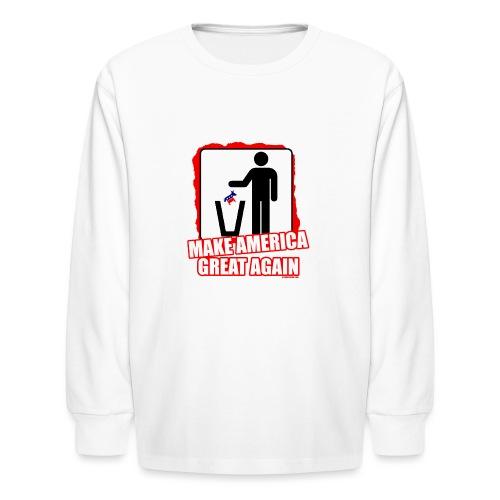 MAGA TRASH DEMS - Kids' Long Sleeve T-Shirt