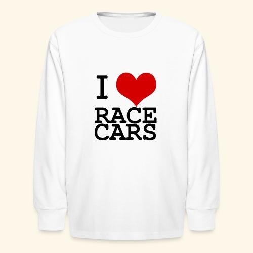 I Love Race Cars - Kids' Long Sleeve T-Shirt