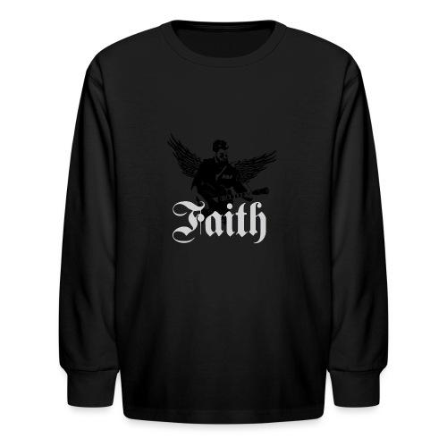 faithwings png - Kids' Long Sleeve T-Shirt