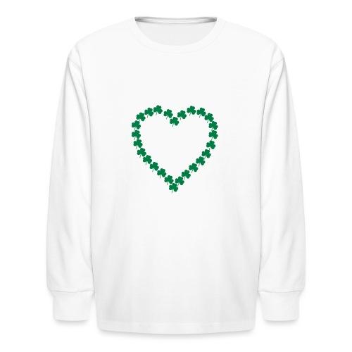 shamrock heart - Kids' Long Sleeve T-Shirt