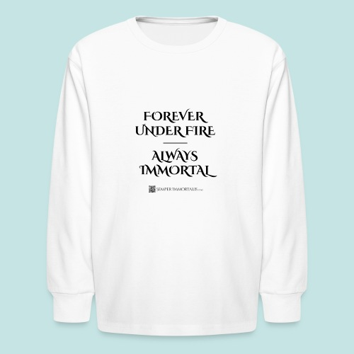 Always Immortal (black) - Kids' Long Sleeve T-Shirt