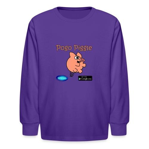 Pogo Piggle - Kids' Long Sleeve T-Shirt