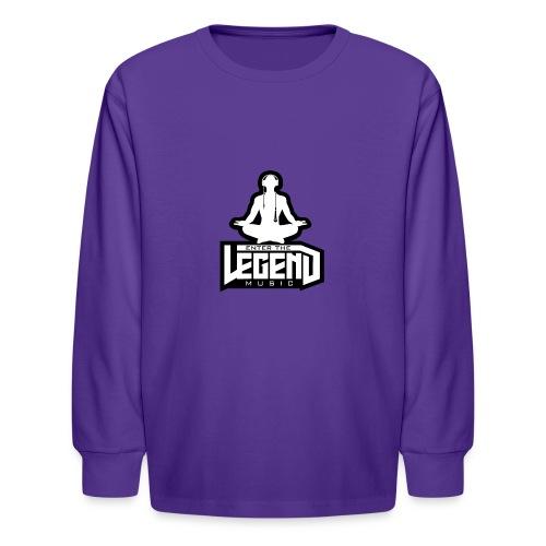 Enter The Legend Music B/W - Kids' Long Sleeve T-Shirt