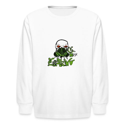 Leaking Gas Mask - Kids' Long Sleeve T-Shirt