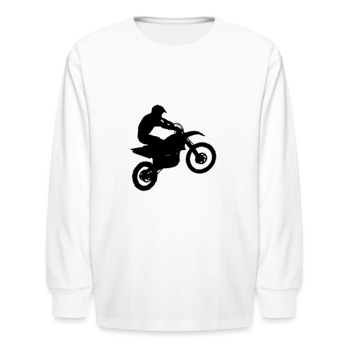 Motocross Dirt biker - Kids' Long Sleeve T-Shirt