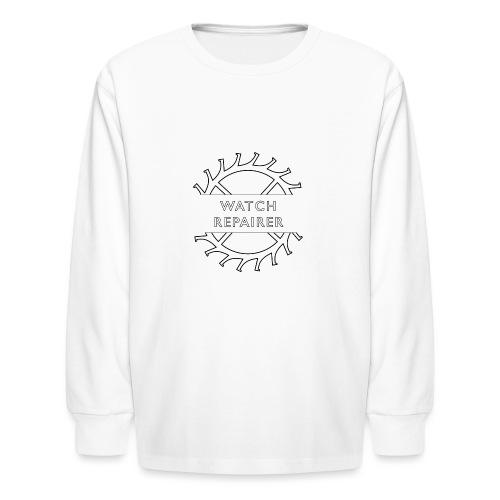 Watch Repairer Emblem - Kids' Long Sleeve T-Shirt
