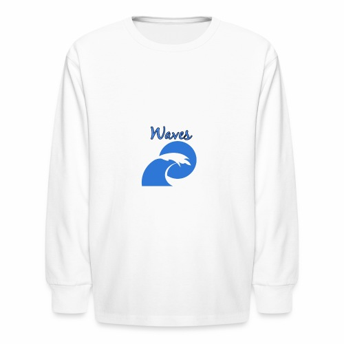 Waves - Kids' Long Sleeve T-Shirt