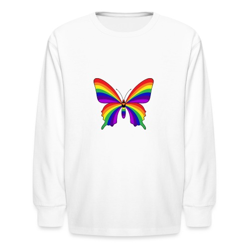 Rainbow Butterfly - Kids' Long Sleeve T-Shirt