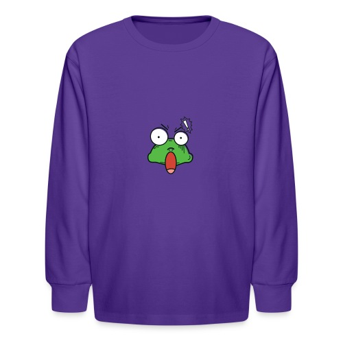 Frog with amazed face expression - Kids' Long Sleeve T-Shirt