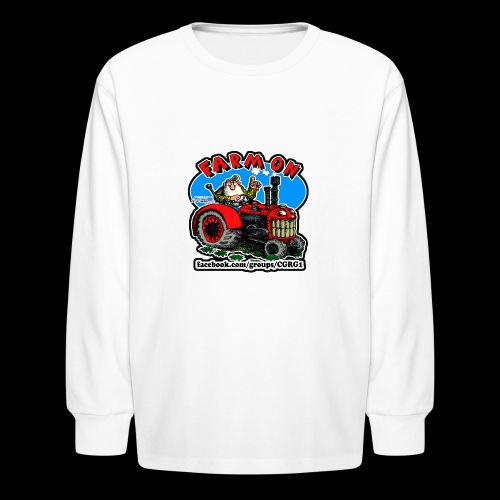 Mr Natural Farm On - Kids' Long Sleeve T-Shirt