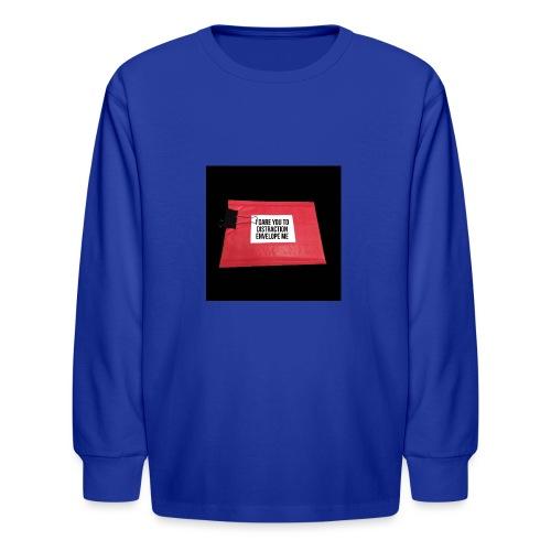 Distraction Envelope - Kids' Long Sleeve T-Shirt