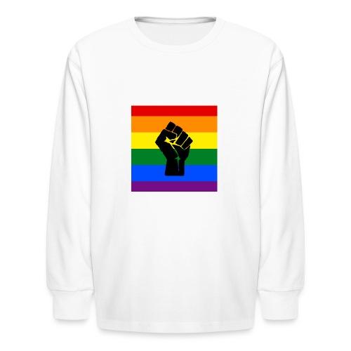 BLM Pride Rainbow Black Lives Matter - Kids' Long Sleeve T-Shirt