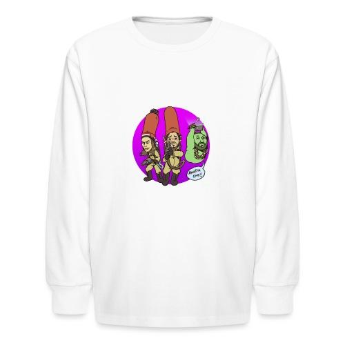 memebusters anotha one purple - Kids' Long Sleeve T-Shirt
