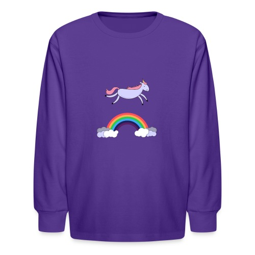 Flying Unicorn - Kids' Long Sleeve T-Shirt