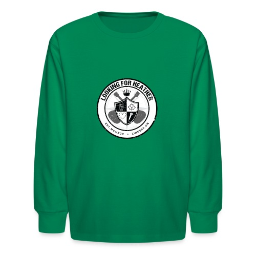 Looking For Heather - Crest Logo - Kids' Long Sleeve T-Shirt
