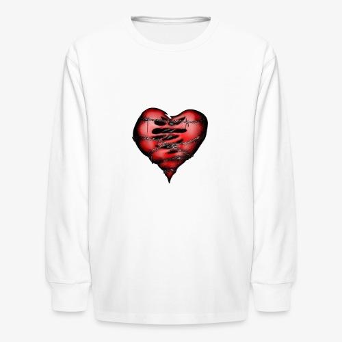 Chains Heart Ceramic Mug - Kids' Long Sleeve T-Shirt
