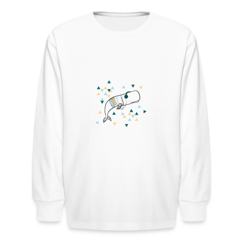 Music Whale - Kids' Long Sleeve T-Shirt