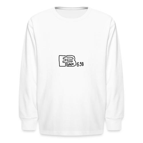 Evan3690 Logo - Kids' Long Sleeve T-Shirt
