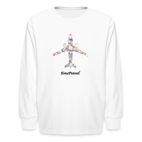 Time To Travel - Kids' Long Sleeve T-Shirt
