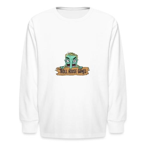 Troll House Games Cartoon Logo - Kids' Long Sleeve T-Shirt