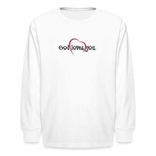 God Loves You 103 - Kids' Long Sleeve T-Shirt
