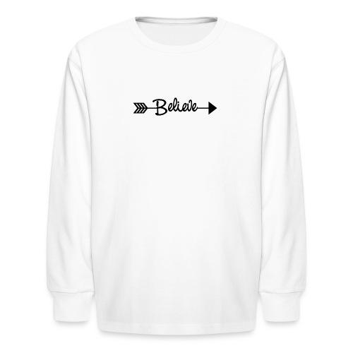 Believe Arrow Black - Kids' Long Sleeve T-Shirt