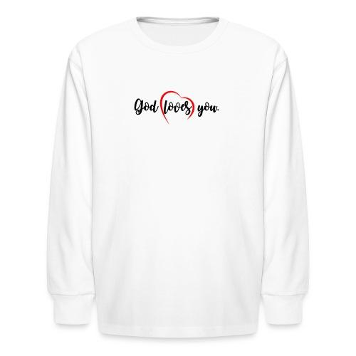 God Loves You 102 - Kids' Long Sleeve T-Shirt