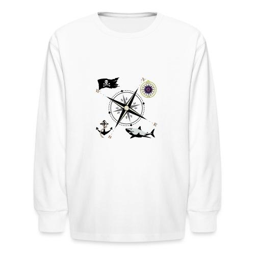 Nautical Designs - Kids' Long Sleeve T-Shirt