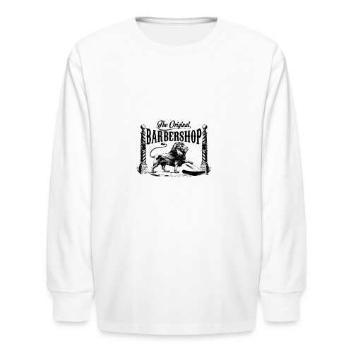 The Original Barbershop - Kids' Long Sleeve T-Shirt