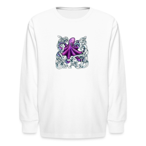 Celtic Octopus - Purple - Kids' Long Sleeve T-Shirt