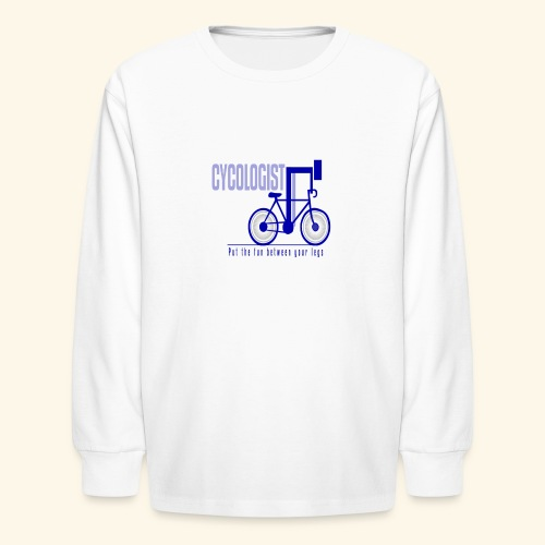 Cycologist T Shirt for Men, Women, Kids, Babies - Kids' Long Sleeve T-Shirt