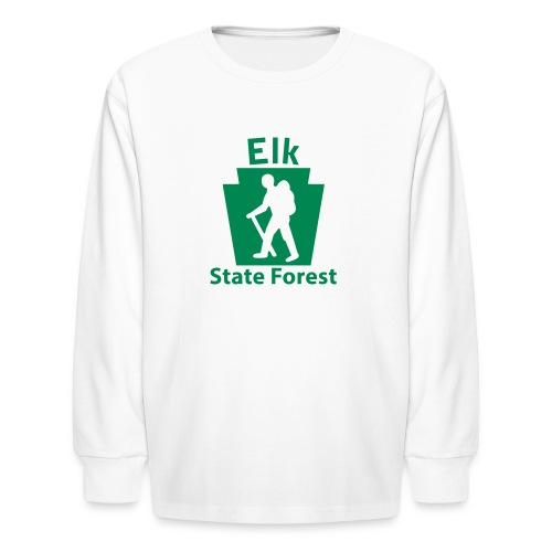 Elk State Forest Keystone Hiker male - Kids' Long Sleeve T-Shirt