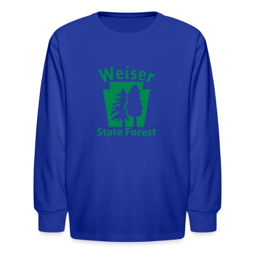 Weiser State Forest Keystone (w/trees) - Kids' Long Sleeve T-Shirt