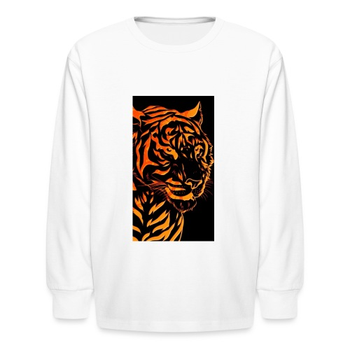 Fire tiger - Kids' Long Sleeve T-Shirt