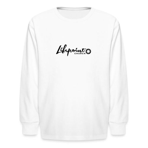 Logo Horizontal Black - Kids' Long Sleeve T-Shirt