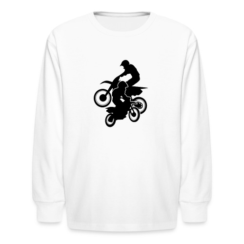 Motocross Dirt Bikes Off-road Motorcycle Racing - Kids' Long Sleeve T-Shirt