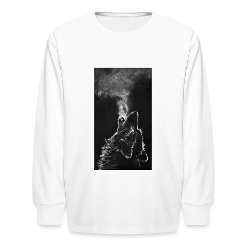 Wolf howl - Kids' Long Sleeve T-Shirt