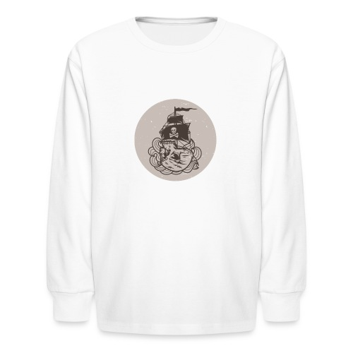 Skullship - Kids' Long Sleeve T-Shirt