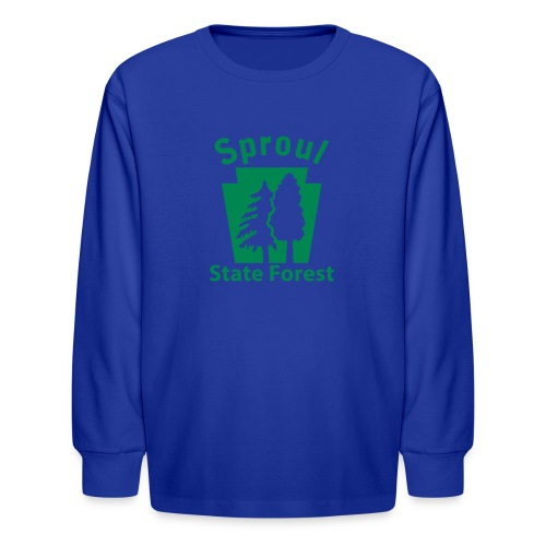 Sproul State Forest Keystone (w/trees) - Kids' Long Sleeve T-Shirt