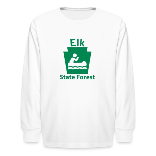 Elk State Forest Boating Keystone PA - Kids' Long Sleeve T-Shirt