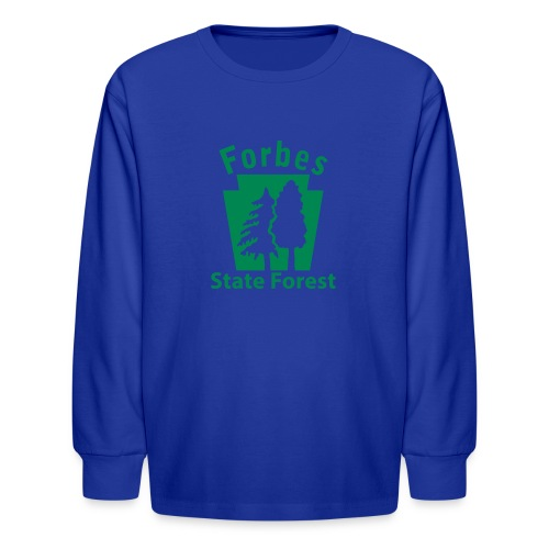 Forbes State Forest Keystone (w/trees) - Kids' Long Sleeve T-Shirt