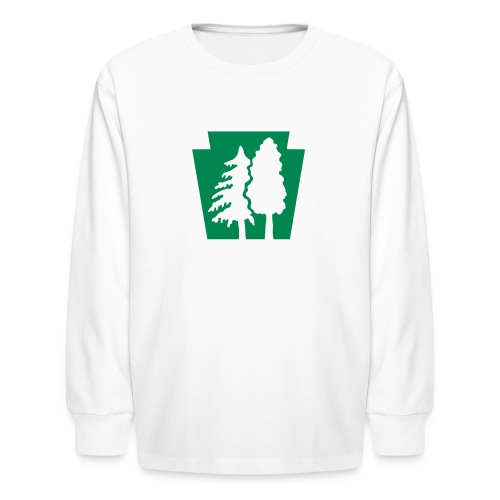 PA Keystone w/trees - Kids' Long Sleeve T-Shirt