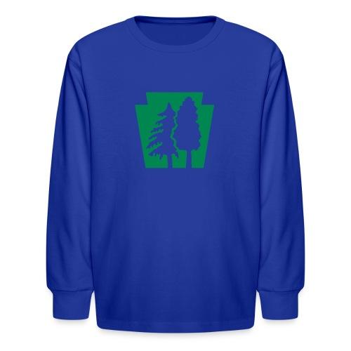 PA Keystone w/trees - Kids' Long Sleeve T-Shirt